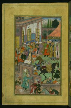 Presentation of Awards at Sultan Ibrahims Court   This scene from Walters manuscript W.596 depicts an awards ceremony at Sultan Ibrahim's court before an expedition to Sambhal. #ArtoftheDay