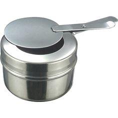 Recipient Combustibil Chafing Dish Recipient Combustibil Chafing Dish, din otel inoxidabil,  disponibil in doua variante : A - pentru partea de sus a placii arzatorului;B - pentru placa de ardere cu orificiul cu diametrul de Ø90 mm; Chafing Dishes