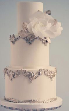 Wedding cake idea; Featured: Cotton and Crumbs