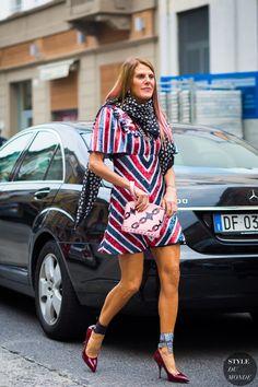 Anna Dello Russo Street Style Street Fashion Streetsnaps by STYLEDUMONDE Street Style Fashion Photography