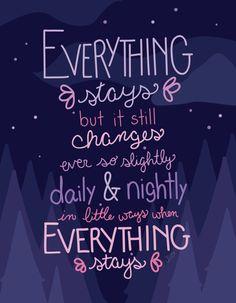 Everything Stays Print #adventuretime #marceline #stakes #everythingstays