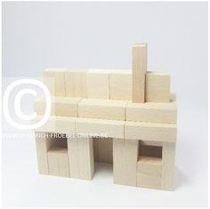 Lebensform (nach Marenholtz-Bülow) mit den Holzbausteinen der Spielgabe 6 nach Froebel -> kleines Haus