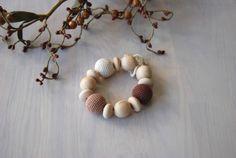 Sale/Wooden knitted with crochet dark brown by Rainbowcaterpillar, $9.50
