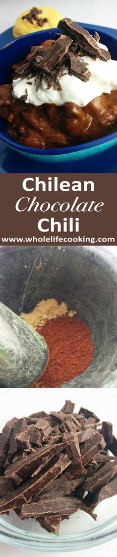 A taste of Chile in your Chili by adding 70% cacao. Melt-in-your-mouth recipe. #chocolate #chilipepper
