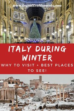 Italy in winter: 7 reasons to visit + 7 best places to visit in Italy in December Weather In Italy, Italy Winter, Italy Vacation, Italy Travel, Visit Sicily, Italy Destinations, South Tyrol, Sardinia, Cool Places To Visit