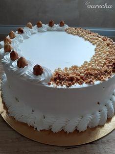 Torta Biely Egypt (fotorecept) - recept | Varecha.sk Pastry Cake, Egypt, Tiramisu, Cake Decorating, Birthday Cake, Sweets, Chocolate, Baking, Simple