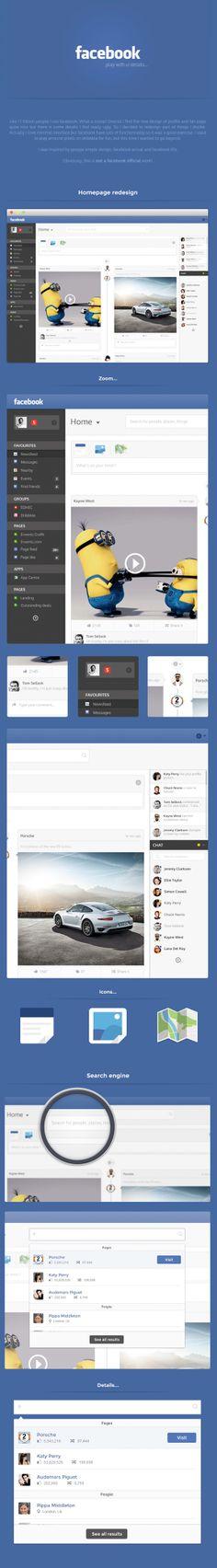 Redesign concept Facebook
