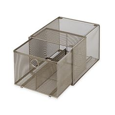 ORG™ Mesh 2-Tier Sliding Cabinet Basket in Silver | Kitchen sinks ...
