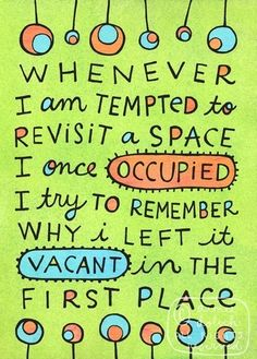 why i left it vacant in the first place.
