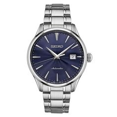 Seiko Men's SRPA29 Stainless Steel 24 Jewell Automatic Strap Watch with a Day and Date