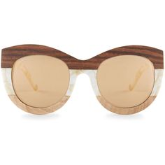 3fe1681d9a Linda Farrow x 3.1 Phillip Lim Cream Pearl   Wood Cat Eye Sunglasses ( 285)  ...