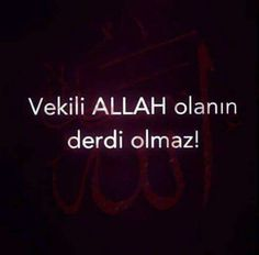 Vekilim Allah(c.c)