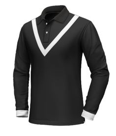 Long Sleeve Polo, Long Sleeve Shirts, Custom Polo Shirts, Black Polo Shirt, Men's Wardrobe, Cuffs, Shirt Designs, Men's Fashion, Collections