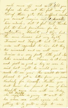 Letter to Martha Quiner Carpenter from Caroline Quiner Ingalls, Oct. 1861 Page 4 Laura Ingalls Wilder, Ingalls Family, Women In History, Learn To Read, Fun To Be One, Missouri, American History, Wisconsin, Genealogy