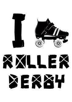 I skate/heart roller derby