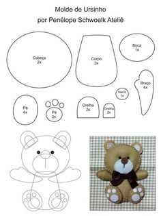 DIY Felt Bear - FREE Sewing Pattern