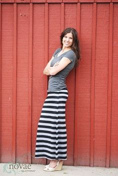 Striped Maxi Skirt from NoVae.