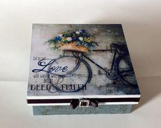 Caixa decorada bicicleta