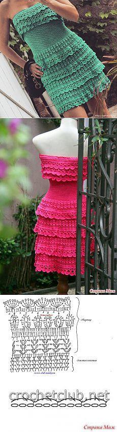 Croșetat rochie * Leticia * de la Vanessa Montoro-MK
