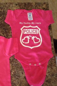 My Daddy My Hero Police Onesie | Badge Wear