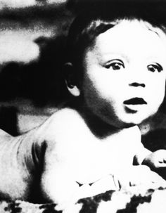 Frank Sinatra - Frank was 13Ib, 7oz at birth.  Frank was a forceps delivery he was believed to be dead at birth and  was set aside so the nurse could save his mother.  His grandmother swooped him,  put him under cold water and saved his life.  The picture is angled to conceal his forceps injury.