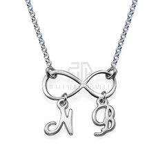 Infinity Necklace with Initials Name necklace 316 Stainless Steel Pendant with the Custom Name