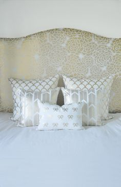 How to Style a Bed with Caitlin Wilson Textiles | Monochromatic Glamour | Rue