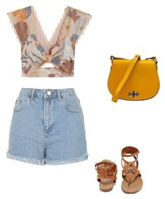 """Untitled #489"" by taylor-edmonds on Polyvore featuring Alice McCall, Topshop, Breckelle's, Summer, croptop and casualoutfit"