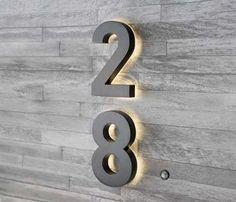 39+ Backlit modern house numbers information