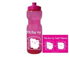 """Cilindro de plástico color fucsia personalizado $150  Diseño """"You´re my Bes Friend"""" color blanco Despedidas de soltera / Cilindro San Valentin"""