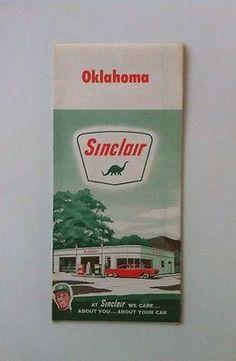 1962 Sinclair Oklahoma map