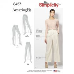 Simplicity sewing pattern 8390 A Pantalon Femmes
