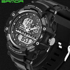 Limited Offer $11.99, Buy 2017 New SANDA Sport Watch Men Diving Clamping Mens Watches Top Brand Luxury Military Clock Saat Erkekler Relogio Masculino 740