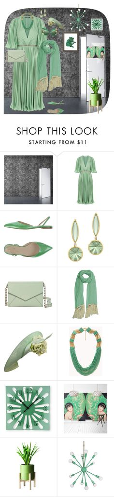 """""""Untitled #106"""" by sarahrockwell ❤ liked on Polyvore featuring Halston Heritage, Kate Spade, Dolce&Gabbana, Philip Treacy, Forever 21 and Milton & King"""