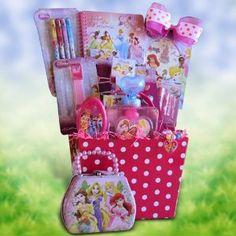 Gift Baskets for Girls Under 10 ~~  #easter #giftbasket ~~