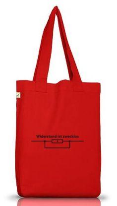 Shirtstreet24, WIDERSTAND IST ZWECKLOS, Jutebeutel Stoff Tasche Earth Positive, Größe: onesize,Red - http://herrentaschenkaufen.de/shirtstreet24/one-size-shirtstreet24-widerstand-ist-zwecklos-11