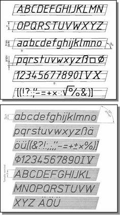 DIBUJO TECNICO: rotulacion DIN 16 Y 17