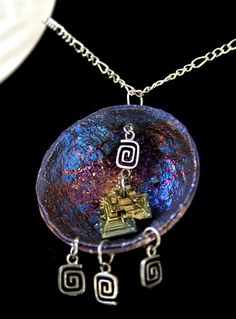 Bismuth Crystal Pendant Beautiful colors by bismuthcrystalarts, $19.99