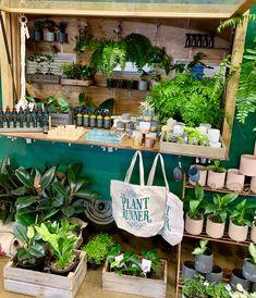 Little Green Caravan - The Plant Runner The Plant Runner - Indoor Plants Flower Shop Interiors, Farmers Market Display, Flower Truck, Green Lawn, Garden Shop, Plant Nursery, Terrace Garden, Flower Market, Indoor Plants