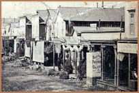 Detail of Main Street, Bodie, circa Main Street 1880 (detail) looking south from Standard Ave. Bodie California, Places In California, California Travel, Yosemite National Park, National Parks, Old Western Towns, Beauty Myth, History Essay, Real Ghosts