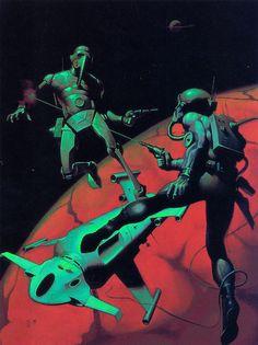 70s sci-fi art: Peter Andrew Jones, John Harris, Dean Ellis, and...