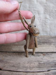 vintage c. 1950s  adorable Zoo-Line donkey brooch