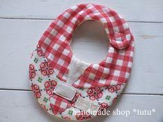 セーラー服スタイ1 赤 Handmade goods for baby&kid`s Handmade shop *tutu* 【生地】 表 Wガーゼ 中 タオル 裏 Wガーゼ