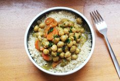 Curry de pois chiches et semoule semi-complète