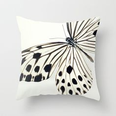 Butterfly (Idea stolli) Throw Pillow by Juste Pixx Photography - $20.00