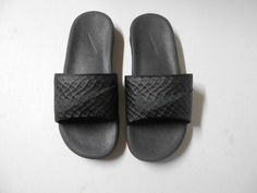 Nike Black Slip On Sandals Slides Rubber Sz 8 Flip Flops Casual 9030 Flip Flop Sandals, Flip Flops, Nike Slides, Comfy Clothes, Black Nikes, Men's Shoes, Casual, Accessories, Fashion