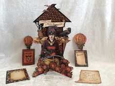 Steampunk Spells double rocket picture tag by anne's paper creations
