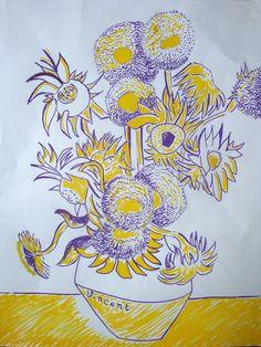 Les tournesols de Van Gogh revisités version 1