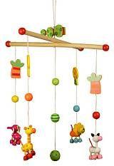 Dřevěné hračky - Závěsný kolotoč - Zvířátka - klikněte pro více informací