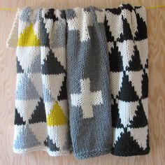 Yarning: knitted baby blankets.